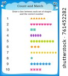 kids worksheet with counting... | Shutterstock . vector #761452282