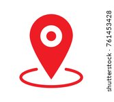 location map icon  gps pointer... | Shutterstock .eps vector #761453428