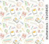 back to school background in... | Shutterstock .eps vector #761458435