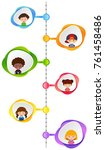 graph design with happy... | Shutterstock .eps vector #761458486