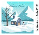 welcome winter vector design | Shutterstock .eps vector #761458972