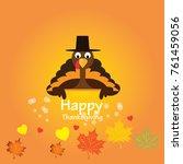 happy thanksgiving celebration... | Shutterstock .eps vector #761459056