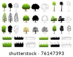 illustration of set of... | Shutterstock .eps vector #76147393
