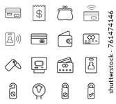 thin line icon set   card ... | Shutterstock .eps vector #761474146