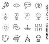 thin line icon set   dollar... | Shutterstock .eps vector #761478322