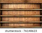 wooden book shelf | Shutterstock . vector #76148623