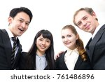 smiling group of businessperson. | Shutterstock . vector #761486896