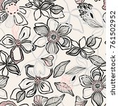 seamless floral pattern with... | Shutterstock .eps vector #761502952