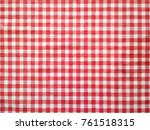 Red Classic Checkered Table...