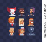 pixel art characters avatars...   Shutterstock .eps vector #761518462