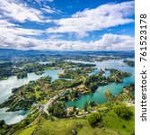 Panoramic View Guatape From Rock - Fine Art prints