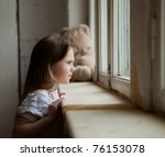 the pretty charming girl looks... | Shutterstock . vector #76153078