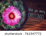 wish you a merry christmas with ... | Shutterstock . vector #761547772