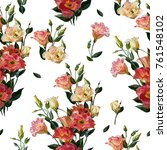 seamless floral pattern in... | Shutterstock . vector #761548102