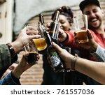 craft beer booze brew alcohol... | Shutterstock . vector #761557036