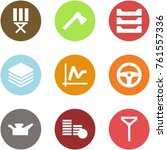origami corner style icon set   ... | Shutterstock .eps vector #761557336