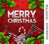 merry christmas background | Shutterstock . vector #761557936