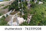 aerial bird view photo radio... | Shutterstock . vector #761559208