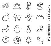 thin line icon set   bio ... | Shutterstock .eps vector #761566246