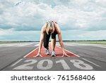 Female Runner Waits For Her...