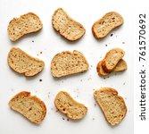 Set Of Slices Toast Bread...