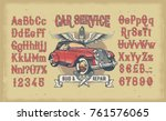 vector illustration of vintage... | Shutterstock .eps vector #761576065