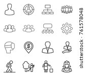 thin line icon set   man ... | Shutterstock .eps vector #761578048