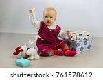 holidays  birthday  children... | Shutterstock . vector #761578612