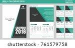 wall calendar vector template... | Shutterstock .eps vector #761579758
