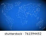 world map vector  polygon... | Shutterstock .eps vector #761594452