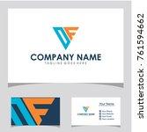 df initial logo design | Shutterstock .eps vector #761594662