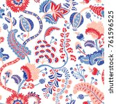 seamless pattern with fantasy... | Shutterstock .eps vector #761596525