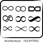 set of eternity signs | Shutterstock .eps vector #761597092