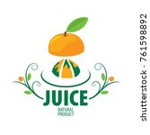 logo of fresh juice | Shutterstock .eps vector #761598892