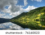 beautiful landscape of norway... | Shutterstock . vector #76160023