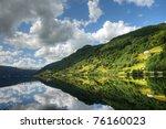 beautiful landscape of norway... | Shutterstock . vector #76160023
