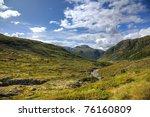 wide angle shot of norwegian... | Shutterstock . vector #76160809