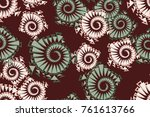 seamless pattern of five colors.... | Shutterstock .eps vector #761613766