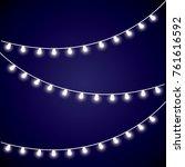 christmas white garland  | Shutterstock .eps vector #761616592