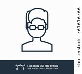 icon boy graphic design single... | Shutterstock .eps vector #761616766