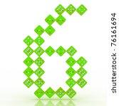 dice font letter 6. green... | Shutterstock . vector #76161694