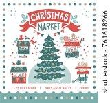christmas market illustration.... | Shutterstock .eps vector #761618266