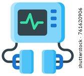 defibrillator machine flat icon....   Shutterstock .eps vector #761620906