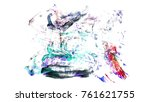 brush stroke and texture. smear ... | Shutterstock . vector #761621755