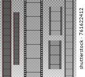 set of film strip isolated on... | Shutterstock .eps vector #761622412