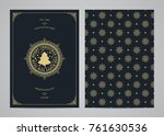 christmas greeting card design. ... | Shutterstock .eps vector #761630536