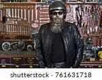 Motorcycle Freak With Beard