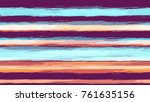 watercolor striped fashion... | Shutterstock .eps vector #761635156