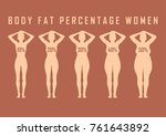 set of flat women before and... | Shutterstock .eps vector #761643892