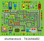 of the city top view. child...   Shutterstock .eps vector #761646682